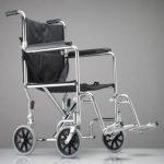 Transport Chair Duro-Lite™ Carbon Steel 250lb wheelchair transport