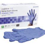 Exam Gloves Confiderm 3.5C NonSterile PF Nitrile Gloves Textured Fingertips Blue Chemo Tested Medium