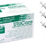 Tuberculin Syringe with Needle UltiCare™ 1 mL 25 Gauge 1 Inch Attached Needle With Safety