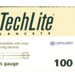 Lancet TechLite Adjustable Depth Lancet Needle 2.8 to 3.1 mm Depth 25 Gauge Twist Top