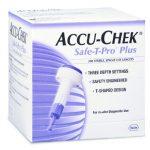 Safety Lancet Accu-Chek Safe-T-Pro Plus Needle 3 Depth Settings 23 Gauge