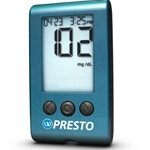 Blood Glucose Meter Kit Wavesense Presto 3 to 12 Seconds Stores Up To 300 Results