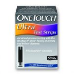 Blood Glucose Test Strips One Touch Ultra 50 Test Strips per Box