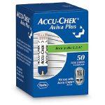 Blood Glucose Test Strips Accu-Chek Aviva Plus 50 Test Strips per Box
