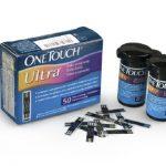Blood Glucose Test Strip OneTouch Ultra Blue 50 Test Strips per Box