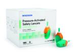 Safety Lancet McKesson Pressure Activated Safety Needle 2.0 mm Depth 21 Gauge Pressure Activated