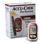 Blood Glucose Meter Kit Accu-Chek Performa 5 Second Test Time Stores Up To 500 Results Test Strip Coding