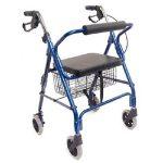 4 Wheel Rollator DMI Royal Blue Ultra Lightweight Aluminum