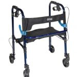 4 Wheel Rollator Clever-Lite Blue Adult Aluminum