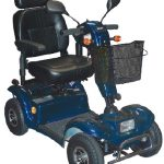 Electric Scooter 4 Wheel Blue