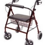 4 Wheel Rollator Lumex Walkabout Contour Imperial Burgundy Walkabout Imperial Aluminum