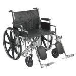 Bariatric Wheelchair 24 Inch Sentra EC STD24ECDDA-ELR