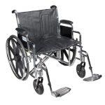 Bariatric Wheelchair 24 Inch Sentra EC STD24ECDDA-SF