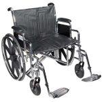 Bariatric Wheelchair 22 Inch Sentra EC STD22ECDFA-ELR