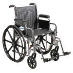 Bariatric Wheelchair 20 Inch Sentra EC STD20ECDDAHD-ELR