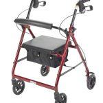 4 Wheel Rollator drive Red Folding