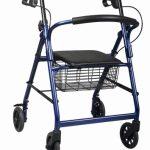 4 Wheel Rollator Guardian Basic Burgundy Adjustable Height