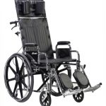 Reclining Wheelchair 18 Inch. Sentra STD18RBDFA