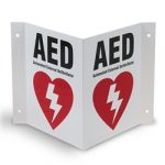 3-Way AED Wall Sign