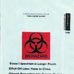 Specimen Transport Bag with Document Pouch Speci-Gard® 6 X 10 Inch Polyethylene Biohazard Symbol / Storage Instructions Adhesive Closure NonSterile