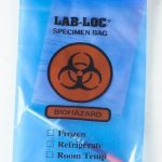 Specimen Transport Bag with Document Pouch McKesson 6 X 9 Inch Low Density Polyethylene Biohazard Symbol / Storage Instructions Zip Closure NonSterile
