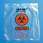 Specimen Transport Bag with Document Pouch LAB-LOC® 8 X 10 Inch Low Density Polyethylene Biohazard Symbol / Storage Instructions Zip Closure NonSterile